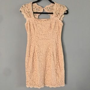 Adianna Papell Dusty Pink Lacy Dress